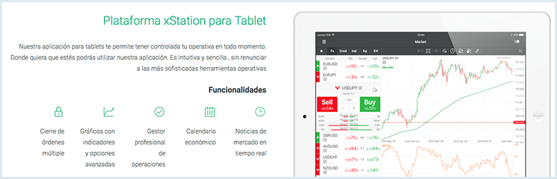 app movil de Xstation - XTB
